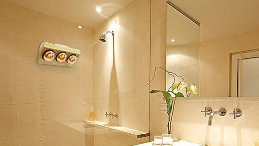 cách treo đèn sưởi nhà tắm