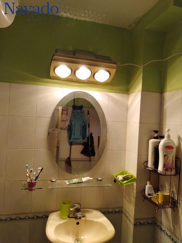 Đèn sưởi hồng ngoại Navado 3 bóng treo tường