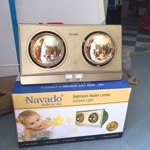 Đèn sưởi nhà tắm 2 bóng vàng Navado