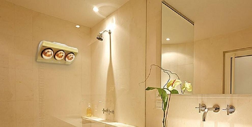 Đèn sưởi phòng tắm hồng ngoại kiểu dáng nhỏ gọn