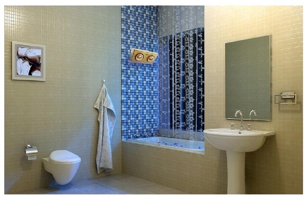Đèn sưởi hồng ngoại phòng tắm tạo không gian ấm áp vào mùa đông
