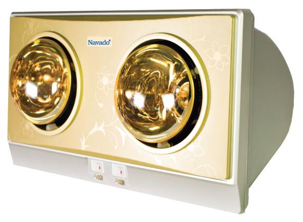 Đèn sưởi hồng ngoại 2 bóng vàng chất lượng