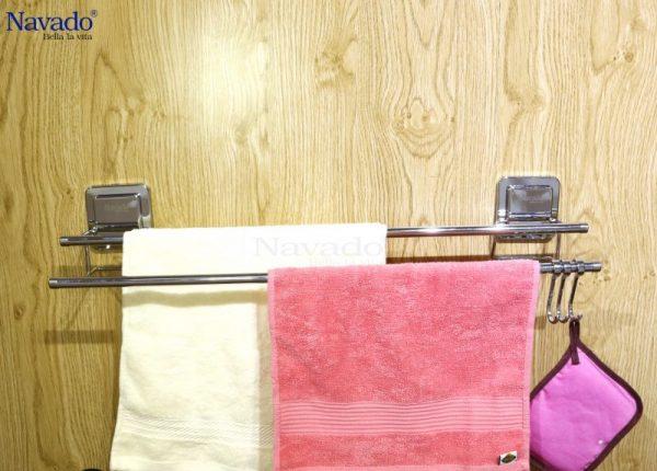 Giá vắt khăn hít dán chân không chất lượng