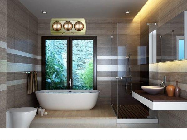 Đèn sưởi ấm nhà tắm an toàn, tiết kiệm, tiện ích