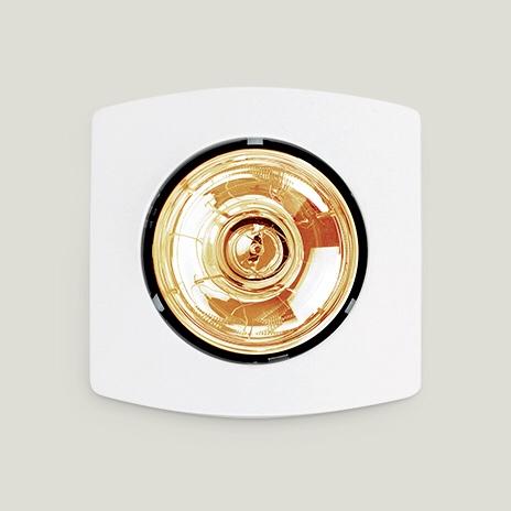 Đèn sưởi 1 bóng hồng ngoại âm trần thiết kế nhỏ gọn, tiện lợi
