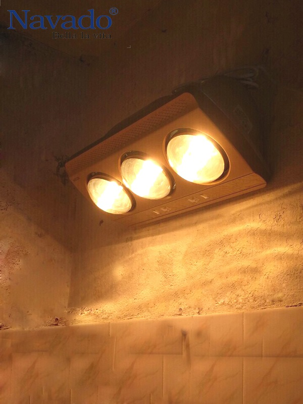 Đèn sưởi phòng tắm hồng ngoại bóng vàng