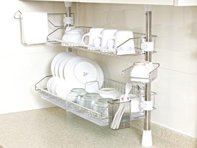 Kệ úp bát đĩa inox 2 tầng thiết kế gọn nhẹ phù hợp nhiều vị trí