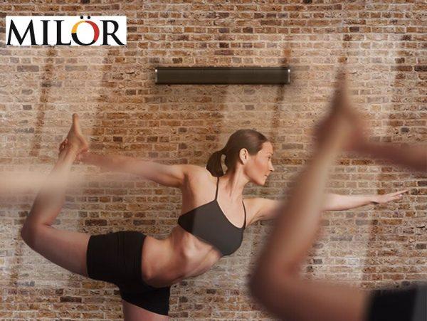 Sưởi hồng ngoại phòng tập yoga công dụng 2 trong 1