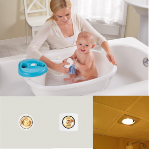 Lắp đèn sưởi phòng ngủ âm trần một bóng