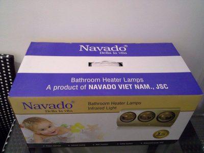 Sử dụng đèn sưởi hồng ngoại thương hiệu Navado