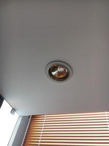 Đèn sưởi âm trần nhà tắm 1 bóng hiện đại