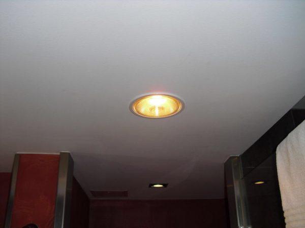 Đèn sưởi phòng khách âm trần 1 bóng hiện đại