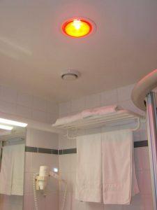 Đèn sưởi phòng tắm âm trần 1 bóng an toàn
