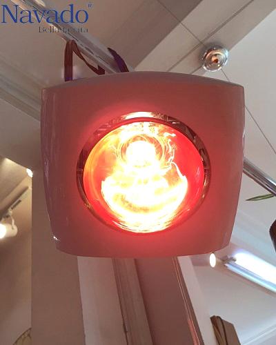 Đèn sưởi nhà tắm 1 bóng âm trần