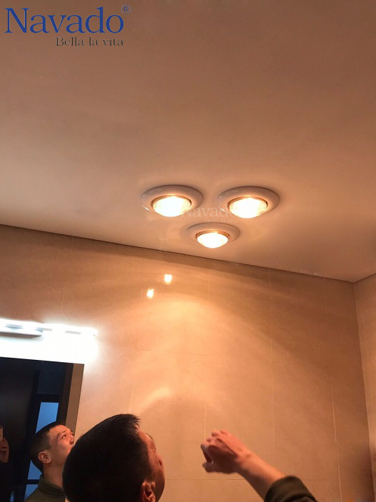 Đèn sưởi 3 bóng âm trần hồng ngoại