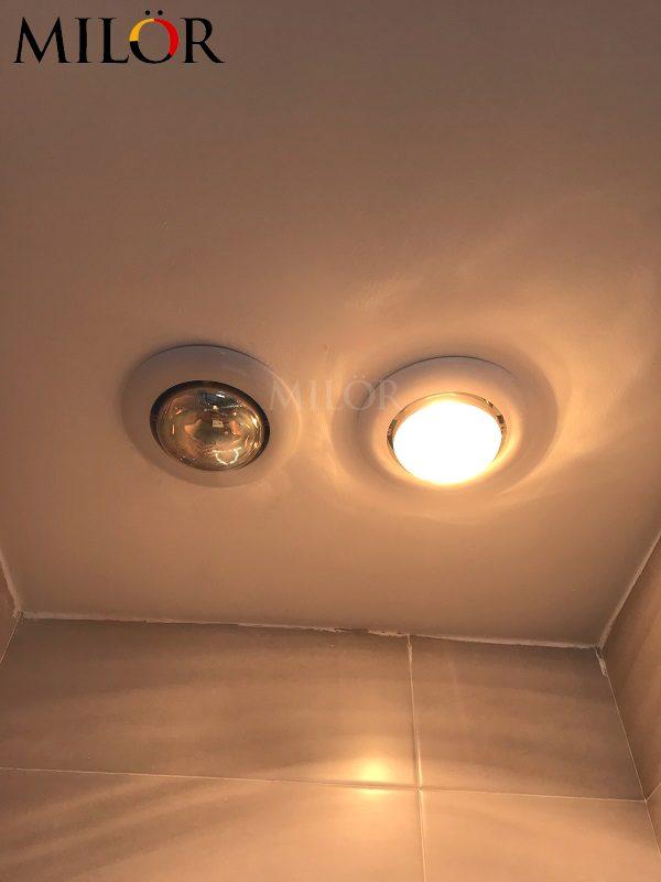 Đèn sưởi 2 bóng âm trần phòng tắm Milor